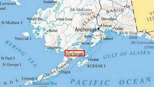 King Salmon Map